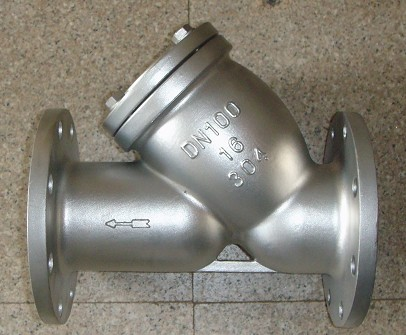 DIN flanged Y strainer