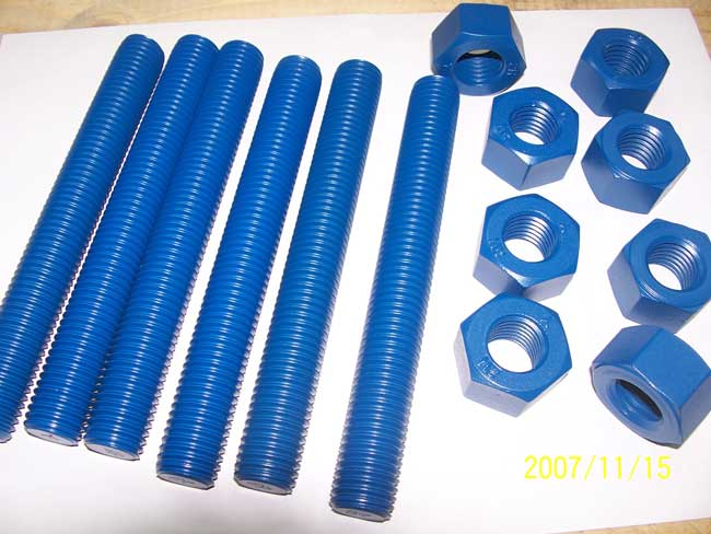 Xylan coating bolt and nuts