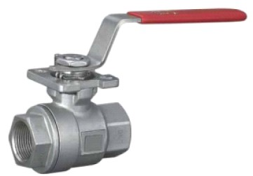 2PC Screwed Ball Valve With ISO 5211 Mounting Pad